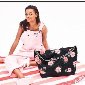 Victoria's Secret Floral Weekender & Blanket NEW